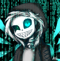 Undervirus Sans [Request] by RegiregeArt