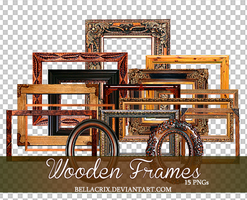 Wooden Frames PNGs by Bellacrix