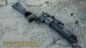 1:1 BOBA FETT BLASTECH EE-3 CARBINE RIFLE REPLICA by JohnsonArmsProps