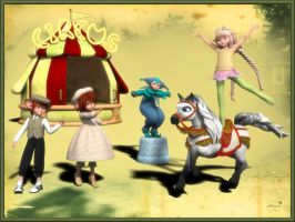 Afternoon at the circus for elleque and trumarcar by mininessie66