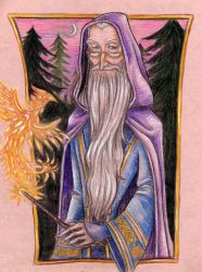Dumbledore by FizzingWhizbees