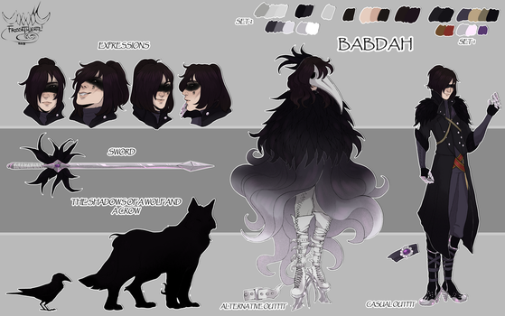 [Commission] Reference Sheet for SheIsHazard by FrossetHjerte