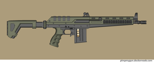 Type-310 battle rifle by Robbe25