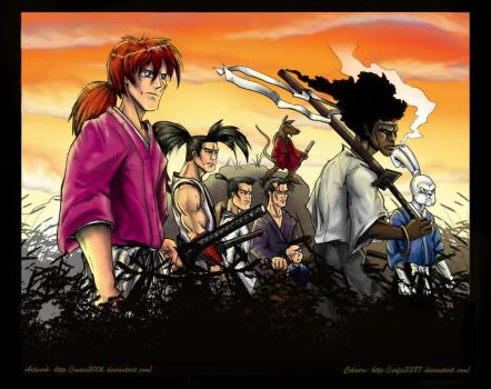 The new 7 samurai colored by Mace2006