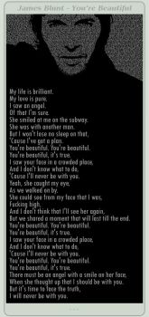 JamesBlunt - You're Beautiful by sarakhanoom