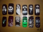 Halloween Nail Designs by AnyRainbow