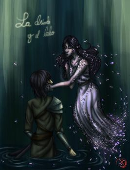 The dryad and the wolf by 9Akary9Pau