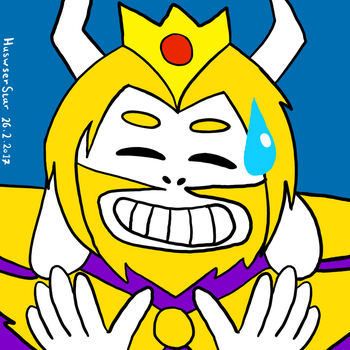 Sweat smile asgore by HuswserStar