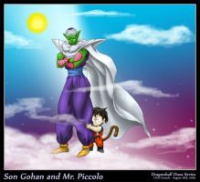 Son Gohan and Mr. Piccolo by SandFire1on1