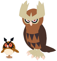 Hoothoot and Noctowl Base