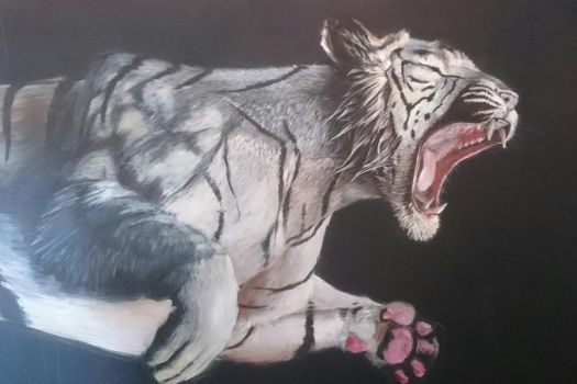 White tiger WIP by Lageveen