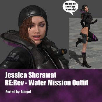 Jessica Sherawat RE:Rev Water Mission Outfit by Adngel