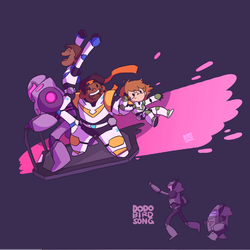 Paladins Escape with Fun by dodobirdsong