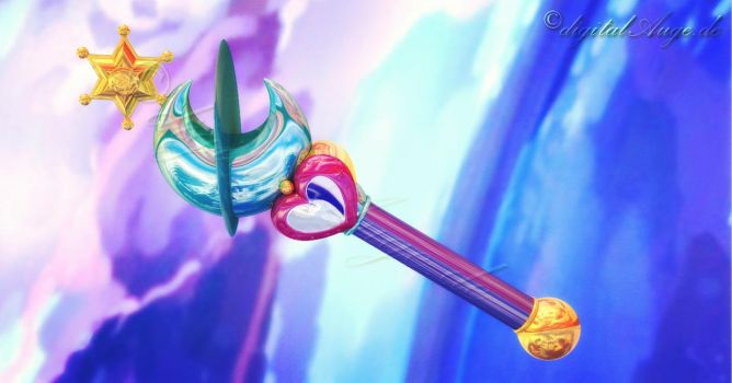 Sailor Moon - Neptune wand by digitalAuge