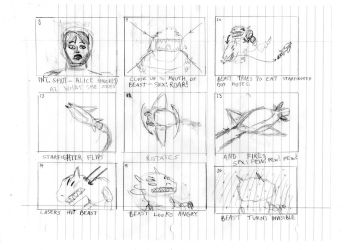 The Beast in Space Storyboards Part II by DTrinidad
