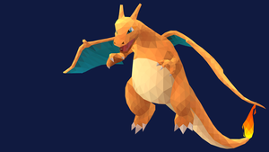 Low-Poly Charizard by pikachu-hat