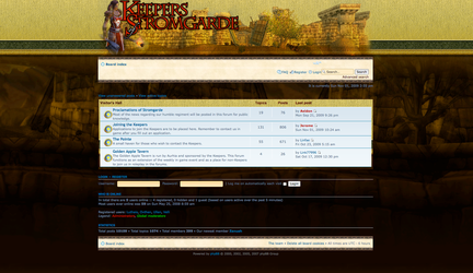 Keepers of Stromgarde guild forum theme by Aurhia