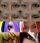 boy character's eyes makeup tutorial by 0066