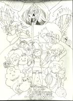 WIP Adventure Time with Fionna and Cake by ImRocker