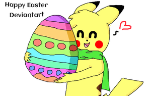 Happy Easter Deviantart (The Poke-Pact) by LenaCrafter