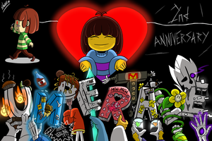 Undertale 2nd Anniversary by Wenrind