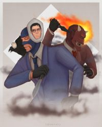 [ TF2 ] Spies, gentlemen. by squavery