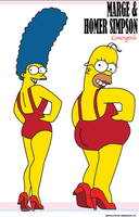 Marge and Homer covergirls XD by Shayeragal