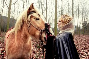 Guinevere and horse by Costurero-Real