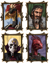 DOS2 party portraits by PlaviGmaz