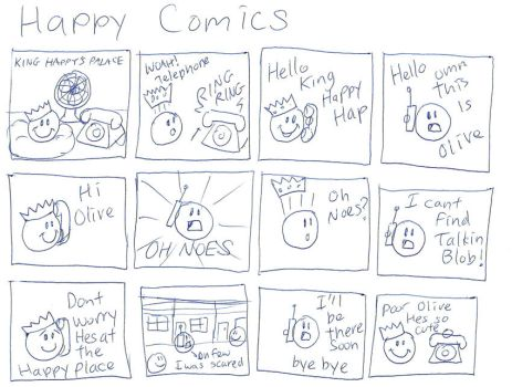 Happy Comics by PudgeyRedFox