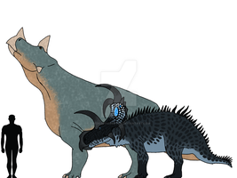 Misc. Ceratopsids of The Island With No Name by TheDilophoraptor