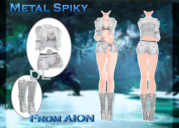 MMD AION - Metal Spiky - [DL] by Milionna