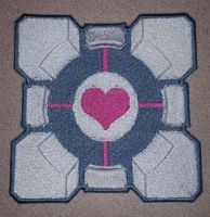 Companion Cube Embroidered Patch by Spaceguy5