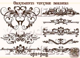 Ornaments vintage borders design LZ by Lyotta