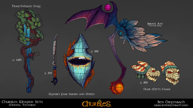 Churbles: Weapons 01b by darkmag07