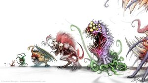 MONSTER FOOD CHAIN by AustenMengler