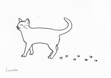 Inktober 2018 Day 9 - Cat by Lauralina