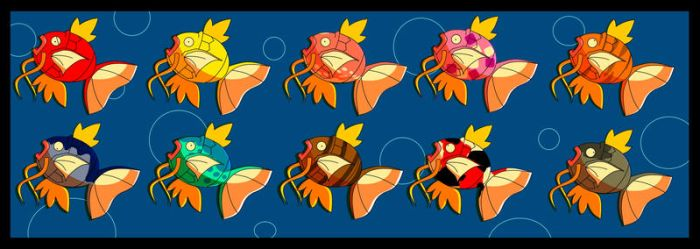 Magikarp Colors by SomeoneImSure