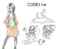 CODEtte (Proxy OC UPDATED ref.) by MikuParanormal