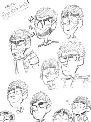 Facial Expressions with Kiyotaka Ishimaru by DoodlingArtistThing