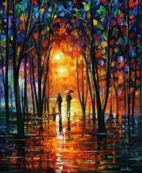 DARK PARK by leonid Afremov by Leonidafremov