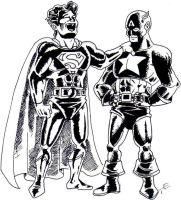 Superman and Captain America by UBob