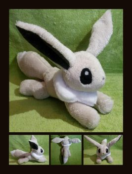 Eevee Floppy Plush by Lighiting-Dragon