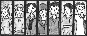 Daria Characters by SmileOfMadness