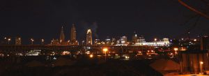 Night view downton Cleveland by TomKilbane