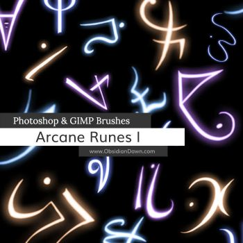 Arcane Runes Photoshop and GIMP Brushes by redheadstock