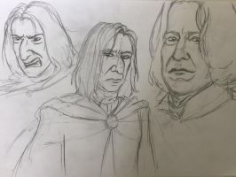 Book/Movie Snape Doodles by JuanaSunfall