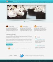Food/Cafe Website Template in Photoshop by AinsleyB