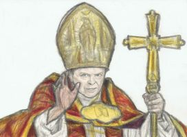 David Bowie for Pope by gagambo