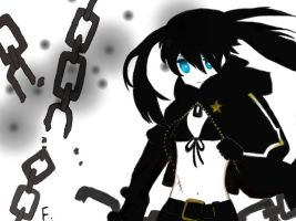 Black Rock Shooter :3 by moetaiga